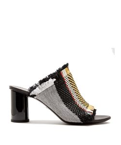 Proenza Schouler | Woven Leather And Canvas Block-Heel Sandals