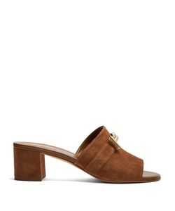 Tod's | Open-Toe T-Bar Suede Mules