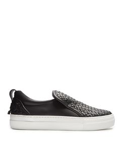 Buscemi   40mm Weave Low-Top Leather Trainers