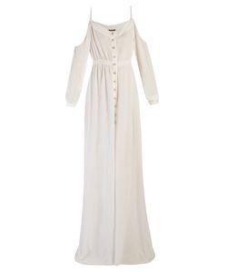 Balmain   Cut Out-Shoulder Maxi Dress