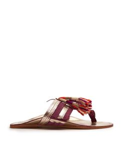 Figue | Zola Leather And Suede Tassel Sandals