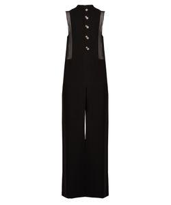 Lanvin | Crystal-Embellished Button Wide-Leg Crepe Jumpsuit