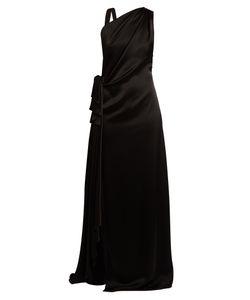 Osman | Elizabeth Draped Satin Gown