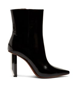 VETEMENTS | Reflector-Heel Leather Ankle Boots
