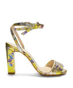 Delpozo | Brocade Block-Heel Sandals