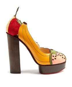 Charlotte Olympia | Bananas Is My Business Leather And Suede Pumps