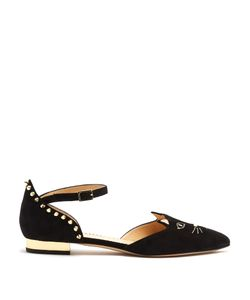 Charlotte Olympia | Mid-Century Kitty Dorsay Suede Flats