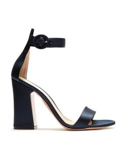 Gianvito Rossi | Block-Heel Satin Sandals