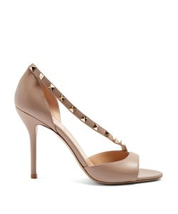 Valentino | Rockstud Asymmetric-Strap Leather Sandals