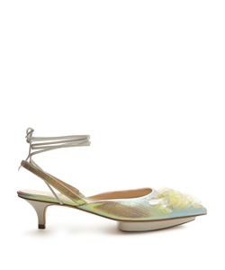 Delpozo | Point-Toe Sequin-Embellished Slingback Pumps