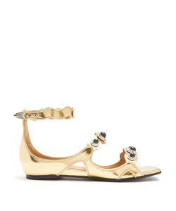 Toga | Embellished Leather Sandals