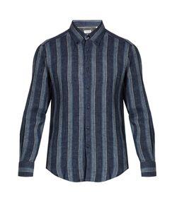 Brunello Cucinelli | Slim-Fit Stripe-Print Linen Shirt