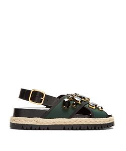 Marni | Fusbett Slingback Neoprene And Leather Sandals