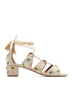 Tabitha Simmons | Isadora Embroidered Linen Sandals