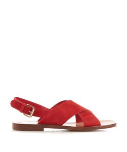 MANSUR GAVRIEL | Cross-Strap Suede Sandals