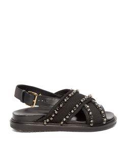 Marni | Fussbett Crystal-Embellished Canvas Sandals