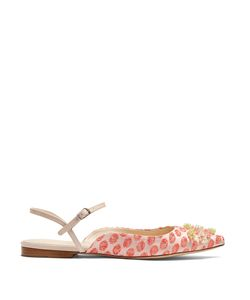 Delpozo | Brocade And Bead-Embellished Flats