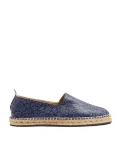 Etro | Paisley-Print Leather Espadrilles