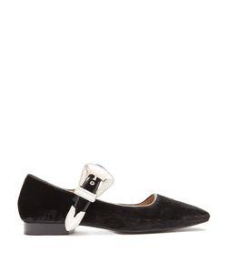 Toga | Velvet Mary Jane Ballet Flats