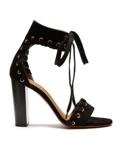 Chloé | Miles Lace-Up Suede Sandals