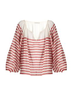 Mes Demoiselles | Matthew Striped Cotton-Gauze Blouse