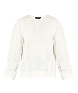 Calvin Klein Collection | Lotti Linen Herringbone Top