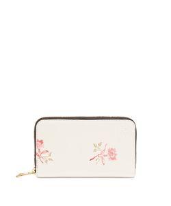 Loewe   Rose-Print Leather Wallet