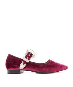 Toga | Velvet Mary-Jane Ballet Flats