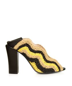 Fendi | Wave Foldable-Heel Raffia Pumps