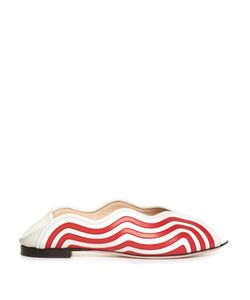 Fendi | Wave Foldable-Heel Leather Flats