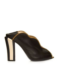 Fendi | Wave Foldable-Heel Leather Pumps
