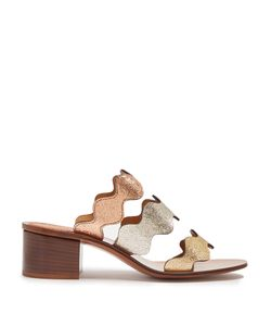 Chloé | Lauren Triple-Strap Leather Sandals