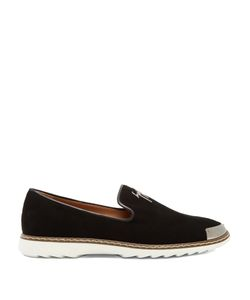 Giuseppe Zanotti | Cedric Brushed-Leather Loafers