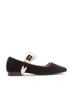 Toga | Faux-Fur Mary-Jane Ballet Flats