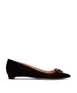 Rupert Sanderson | Bedfa Point-Toe Suede Flats