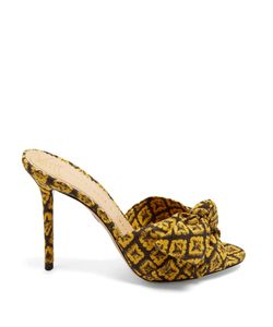 Charlotte Olympia | Lola Pineapple-Print Canvas Mules