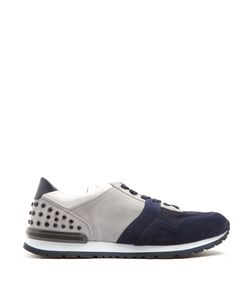 Tod's | Suede And Mesh Low-Top Trainers