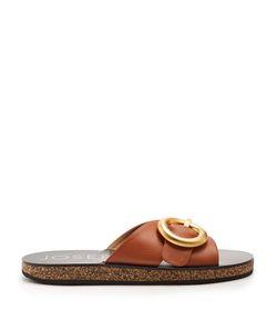 Joseph | Oversized-Buckle Leather Slides