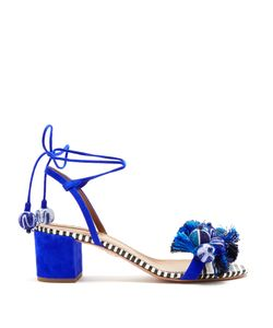 Aquazzura | Tropicana Suede Block-Heel Sandals