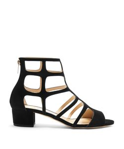 Jimmy Choo | Ren 35mm Block-Heel Suede Sandals
