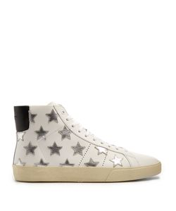 Saint Laurent | Court Classic High-Top Leather Trainers