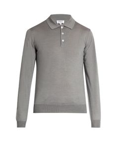 Brioni | Wool Silk And Cashmere-Blend Polo Shirt