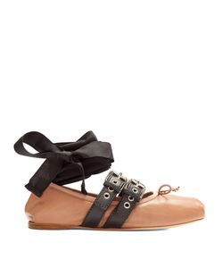 Miu Miu | Buckle-Fastening Leather Ballet Flats