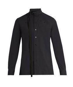 Raf Simons | Belted-Neck Cotton-Blend Poplin Shirt