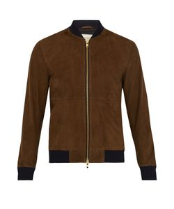 Oliver Spencer | Contrast-Trim Suede Bomber Jacket