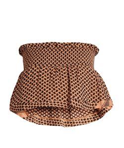Cecilie Copenhagen   Bandeau Scarf-Jacquard Cotton Cropped Top