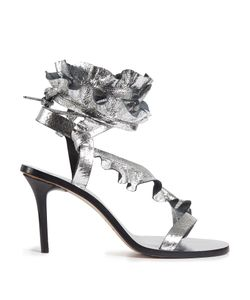 Isabel Marant | Ansel Ruffle-Trimmed Leather Sandals