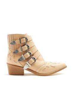 Toga | Buckle Leather Ankle Boots