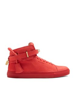 Buscemi   Core Clip High-Top Leather Trainers
