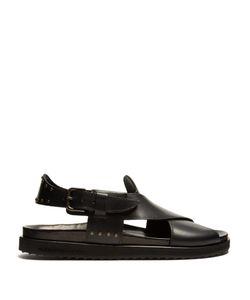 Alexander McQueen | Crossover Leather Sandals